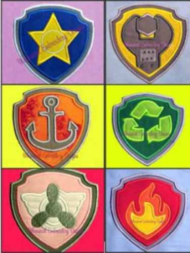 Paw patrol badges clipart image black and white stock Paw patrol badges clipart - ClipartFest image black and white stock