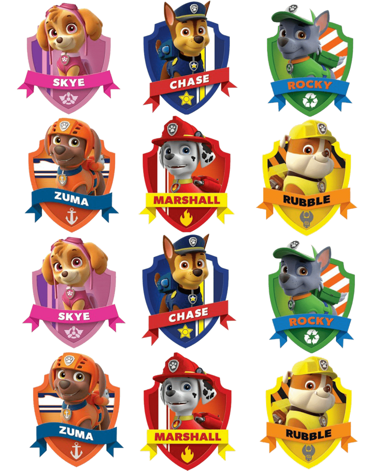Paw patrol badges clipart clipart free stock Badges Paw Patrol Clipart Png clipart free stock