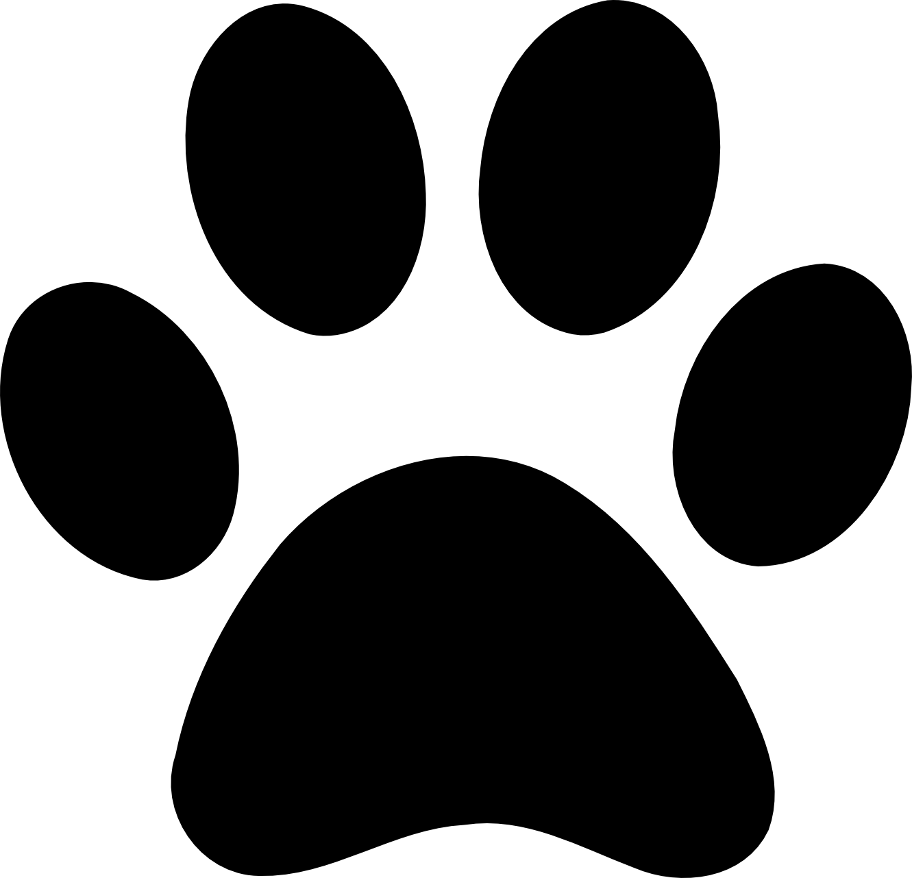 Dog footprint clipart png black and white library Dog Bone Graphic | Black Dog Bone Clipart | Wool Felt Applique ... png black and white library