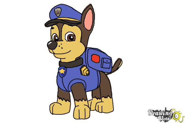 Paw patrol chase clipart graphic transparent library How to Draw Chase from Paw Patrol | DrawingNow graphic transparent library