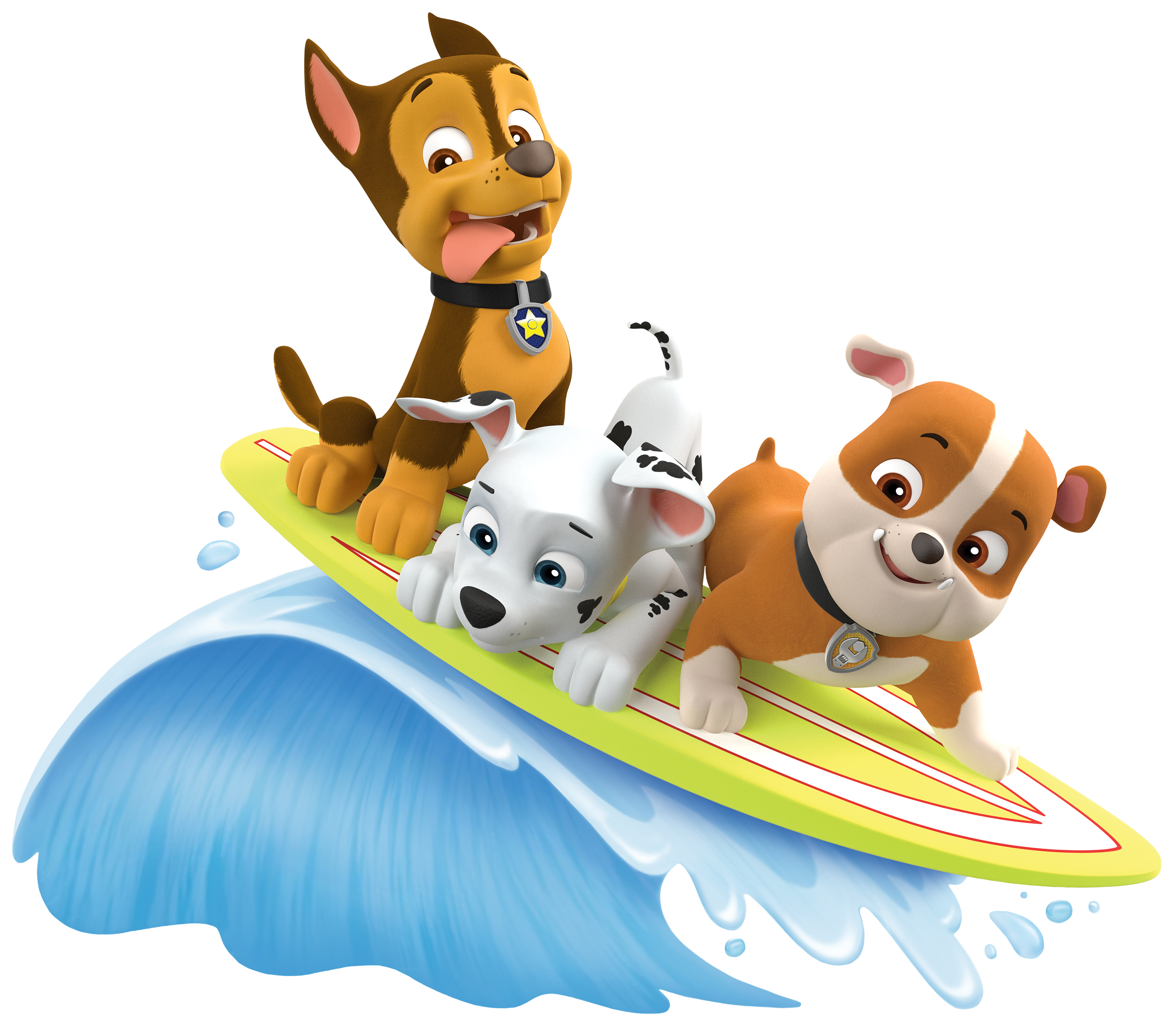 Paw patrol marshall clipart png free stock Image - PAW Patrol Marshall Rubble Chase Summer Surfboard.png | PAW ... png free stock