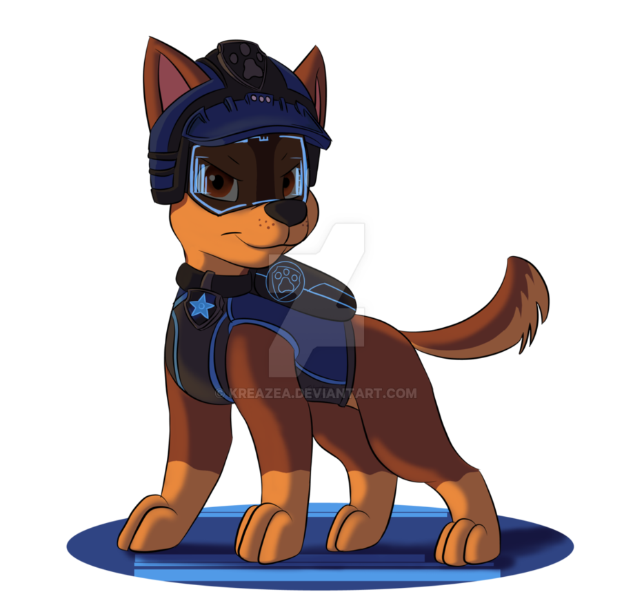 Paw patrol chase clipart picture black and white library Paw Patrol 'Mission Paw' - Chase by kreazea on DeviantArt picture black and white library