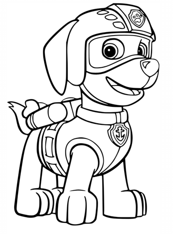 Paw patrol clip art black and white svg free stock PAW Patrol coloring pages | Free Coloring Pages svg free stock