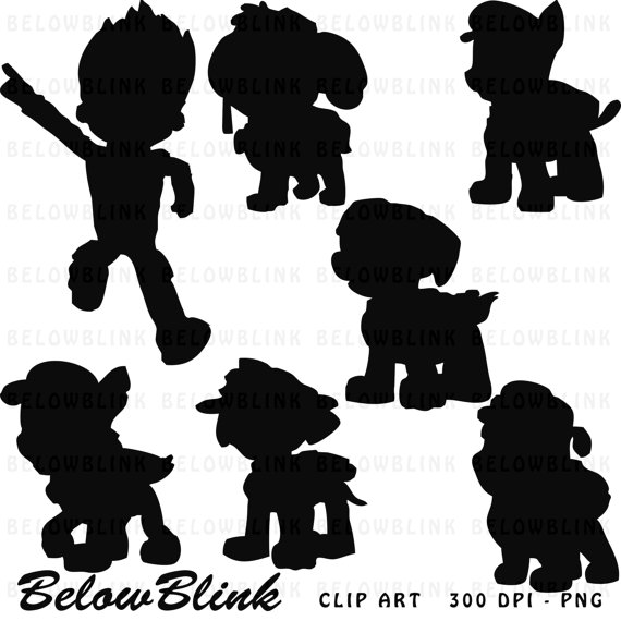 Paw patrol clip art black and white free Ready to download and use! ★ PAW PATROL PNG CLIPART SILHOUETTE ... free