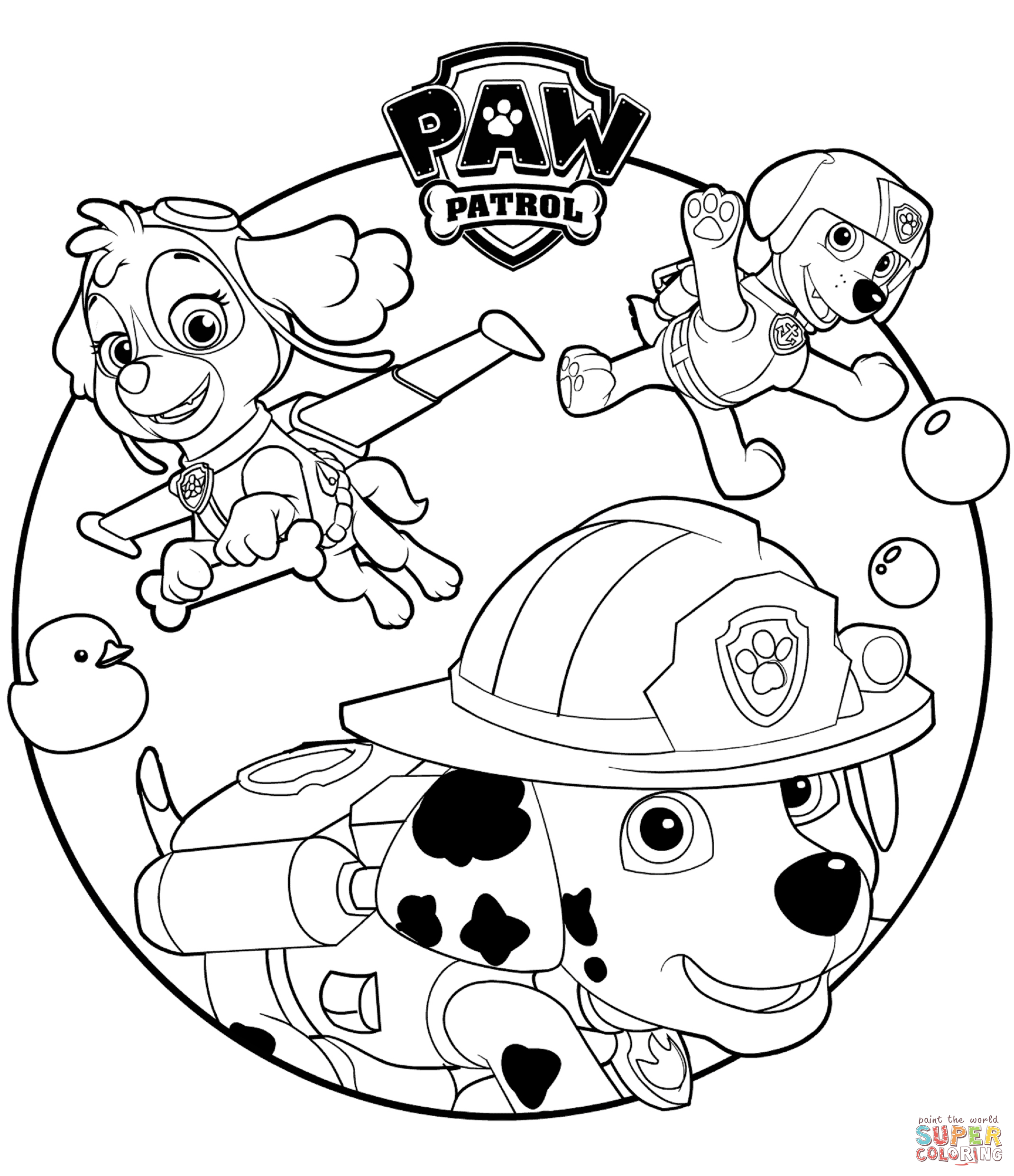 Paw patrol clip art black and white clip art black and white download PAW Patrol coloring pages | Free Coloring Pages clip art black and white download