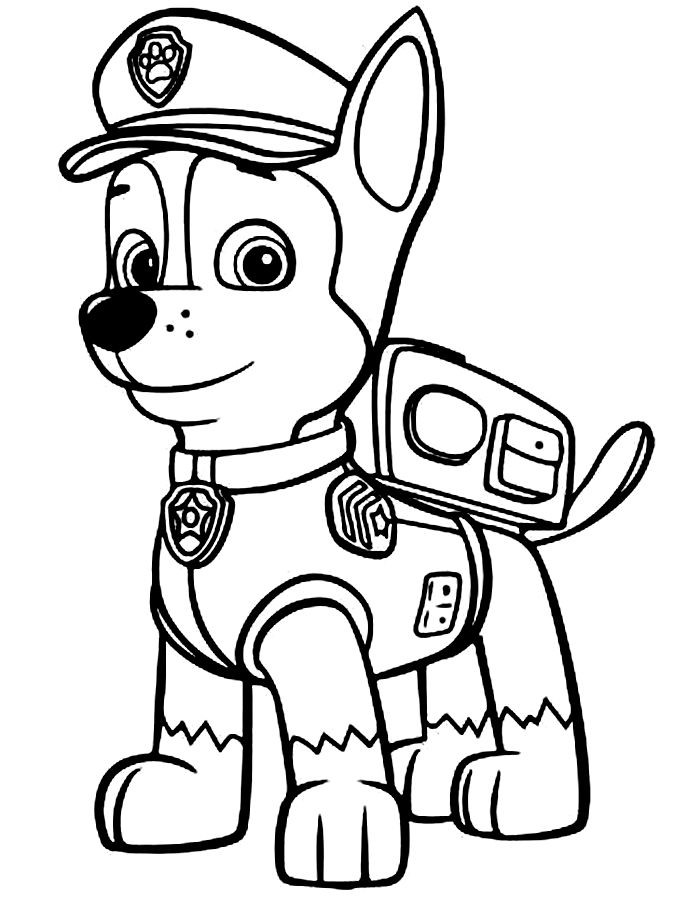 Paw patrol clip art black and white graphic stock Paw patrol coloring pages | Coloring, To find out and The paw graphic stock