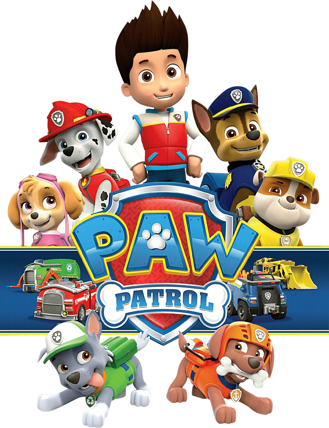 Paw patrol clipart without a background banner black and white Pawpatrol With Logo Png Transparent Paw Patrol Clipart Png banner black and white