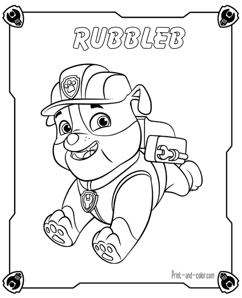 Paw patrol clipart black and white png black and white coloring ~ Coloring Paw Patrol Print Games Online Free Nick ... png black and white