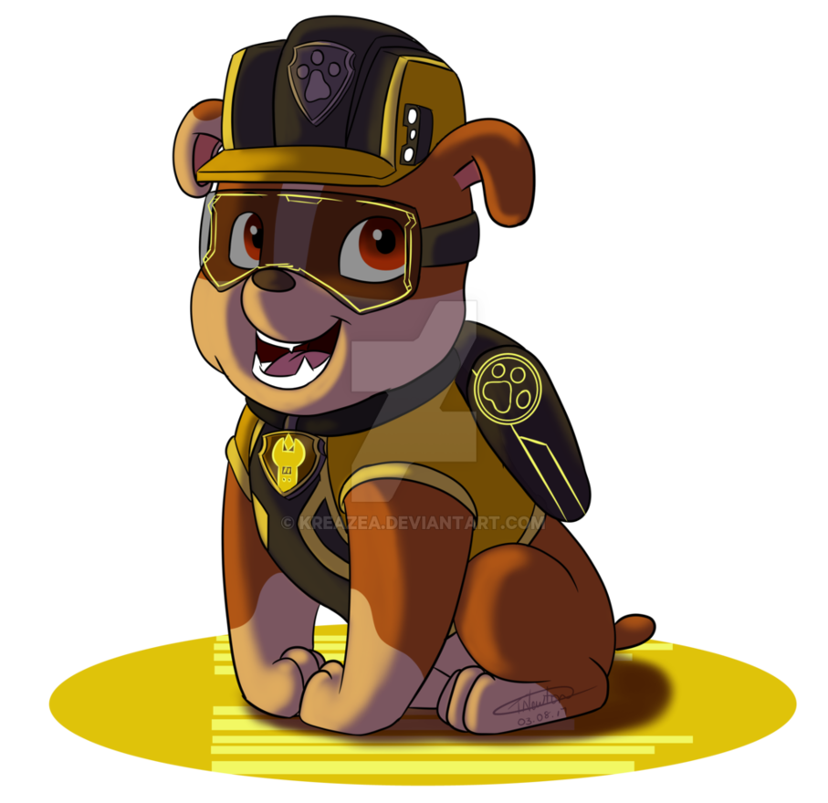 Paw patrol clipart chase jpg transparent download Paw Patrol 'Mission Paw' - Rubble by kreazea on DeviantArt jpg transparent download