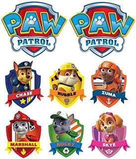 Paw patrol clipart chase free Amazon.com : PAW Patrol - Chase - 2 Iron On Heat Transfers 5