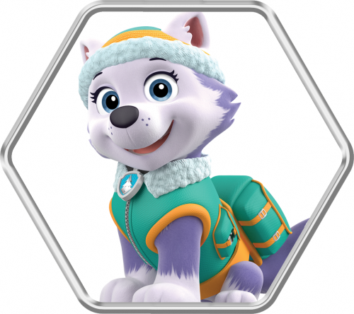 Paw patrol clipart everest vector transparent stock Characters   Paw Patrol Live! Race to the Rescue vector transparent stock