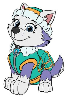 Paw patrol clipart everest graphic transparent stock Paw Patrol Chase Picture & Badge Description ; Find here! PAW ... graphic transparent stock