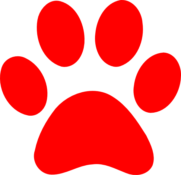 Red cat clipart image black and white stock Image - Red-paw-print-hi.png | PAW Patrol Fanon Wiki | FANDOM ... image black and white stock