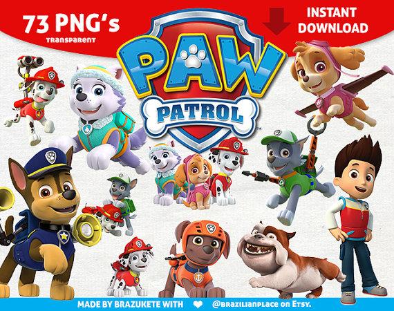 Paw patrol clipart transparent clip art stock Paw Patrol Clipart Printable Pictures - Transparent Background ... clip art stock
