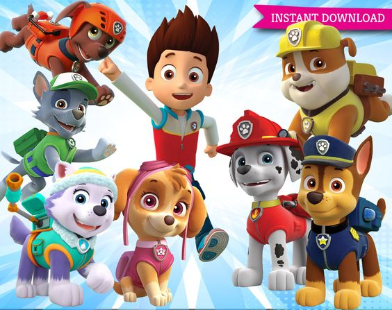 Paw patrol clipart transparent clipart black and white stock Paw Patrol Clipart Printable Pictures - Transparent Background ... clipart black and white stock