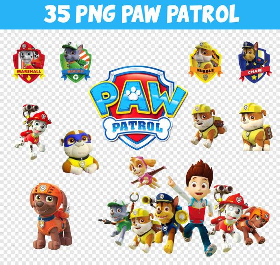 Paw patrol clipart without a background svg freeuse download 17 Best images about Paw Patrol theme birthday party ideas on ... svg freeuse download