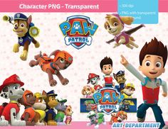Paw patrol clipart without a background clip library stock Paw Patrol Backgrounds Digital Papers - Clipart Scrapbooking ... clip library stock