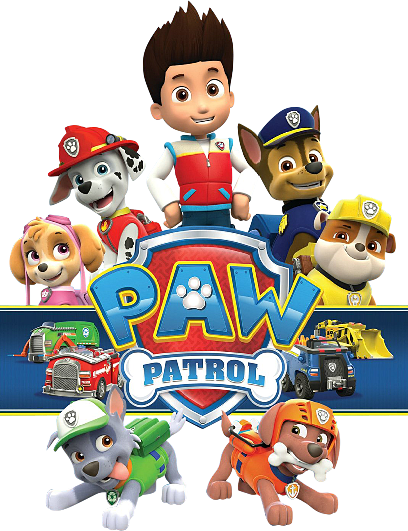 Paw patrol free clipart banner black and white Paw Patrol Birthday Clipart - clipartsgram.com banner black and white