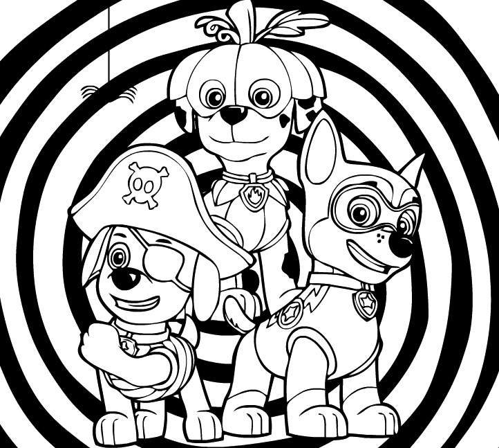 Paw Patrol Coloring Pages for Kids - Paw Patrol Coloring Games ... | 647x722