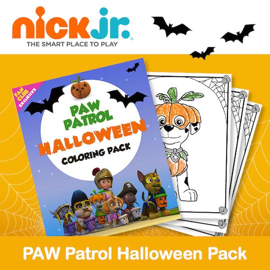 Paw patrol halloween clipart jpg freeuse Printable PAW Patrol Halloween Coloring Pack - Jinxy Kids jpg freeuse