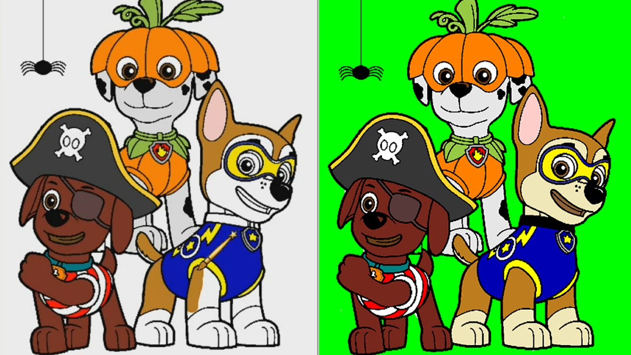 Paw patrol halloween clipart svg transparent Halloween Paw Patrol Coloring Pages for Kids ► Paw Patrol ... svg transparent