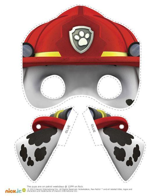Paw patrol halloween clipart png royalty free stock Free Printable Halloween #Masks - Nick Jr.'s Paw Patrol Character ... png royalty free stock