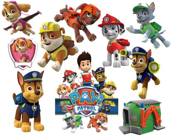 Paw patrol imagenes clipart png black and white library Paw Patrol Clipart Party Digital Clipart Printable Images ... png black and white library