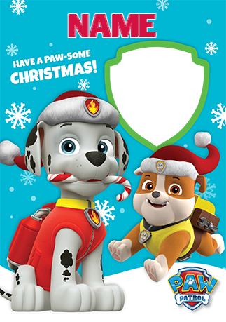 Paw patrol merry christmas clipart banner transparent download Paw Patrol Christmas Card - Have a Paw-Some Christmas | Funky Pigeon banner transparent download