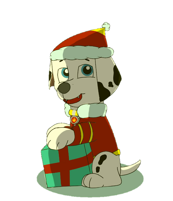 Paw patrol merry christmas clipart clipart royalty free library Merry Christmas: Marshall by phuriphat05327 on DeviantArt clipart royalty free library