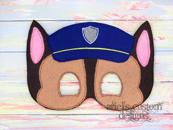 Paw patrol police dog clipart graphic royalty free download Chase Police Dog Paw Patrol Felt Dress Up by ArielsCustomDesigns graphic royalty free download