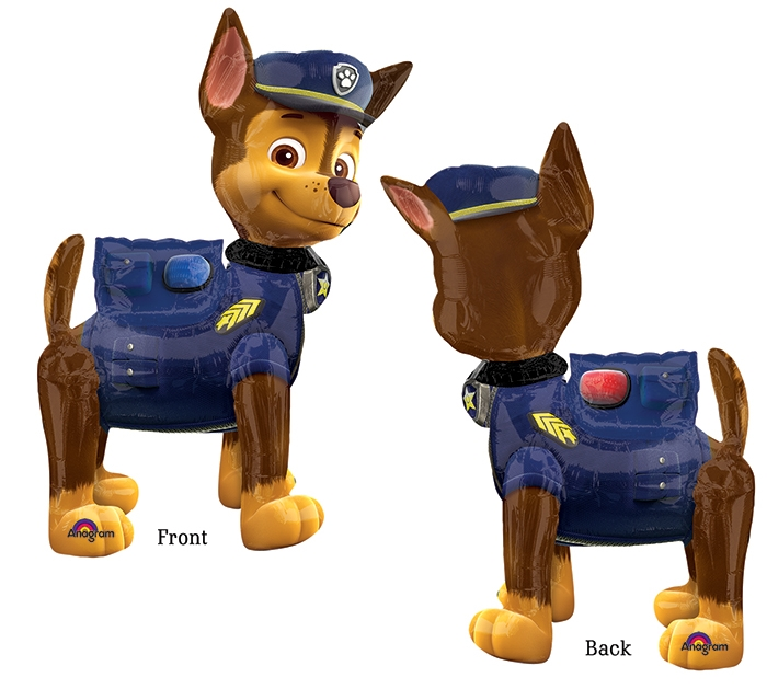Paw patrol police dog clipart clip black and white library Large Paw patrol chase the dog airwalker balloon delivery helium ... clip black and white library