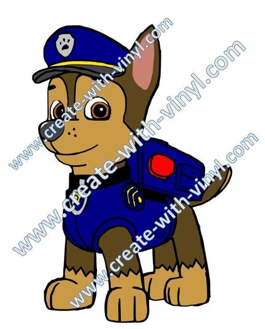 Paw patrol police dog clipart image library library Paw Patrol - Chase - Police Dog - SVG Cameo Cricut Silhouette ... image library library