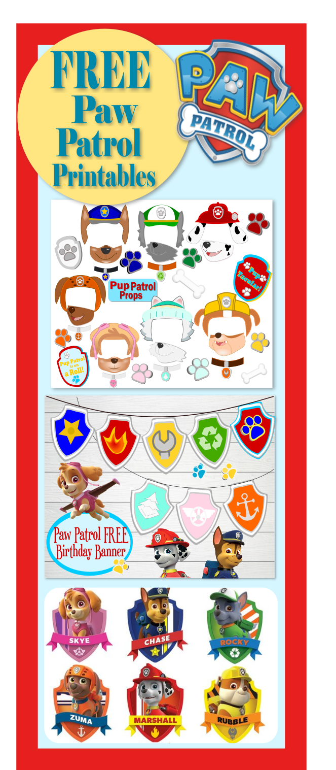 Paw patrol printable clipart png royalty free Paw Patrol Birthday- Party- Pup-tastic Ideas! - Abbi Kirsten Collections png royalty free