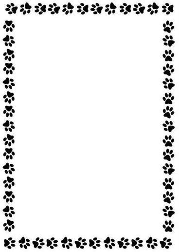 Paw print border clipart banner freeuse stock Dog Paw Border | Free download best Dog Paw Border on ... banner freeuse stock