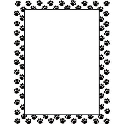 Paw print border clipart picture library download Paw Print Border Clip Art Free Clipart | BORDERS & GRAPHICS ... picture library download