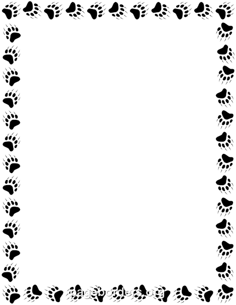 Paw print border clipart clip free Bear Paw Print Border: Clip Art, Page Border, and Vector ... clip free
