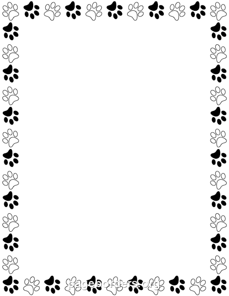 Paw print clipart free border image freeuse Pin by Muse Printables on Page Borders and Border Clip Art ... image freeuse