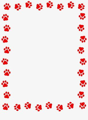 Paw print clipart free border png free download Dog Paw Prints PNG Images, Dog Paw Prints Clipart Free Download png free download