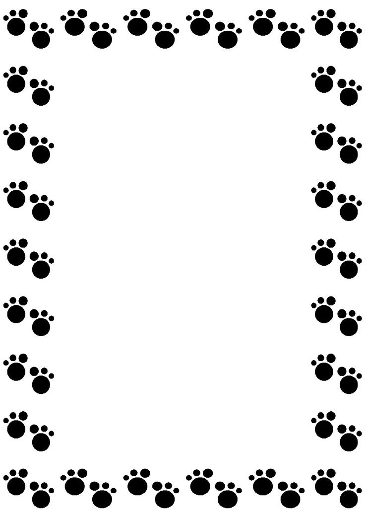 Paw print border clipart png download Dog Paw Border Clip Art | Borders, Frames & Backgrounds ... png download