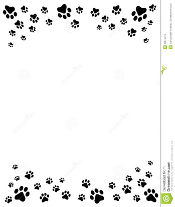 Paw print clipart free border banner black and white stock Free cat paw print border clip art banner black and white stock