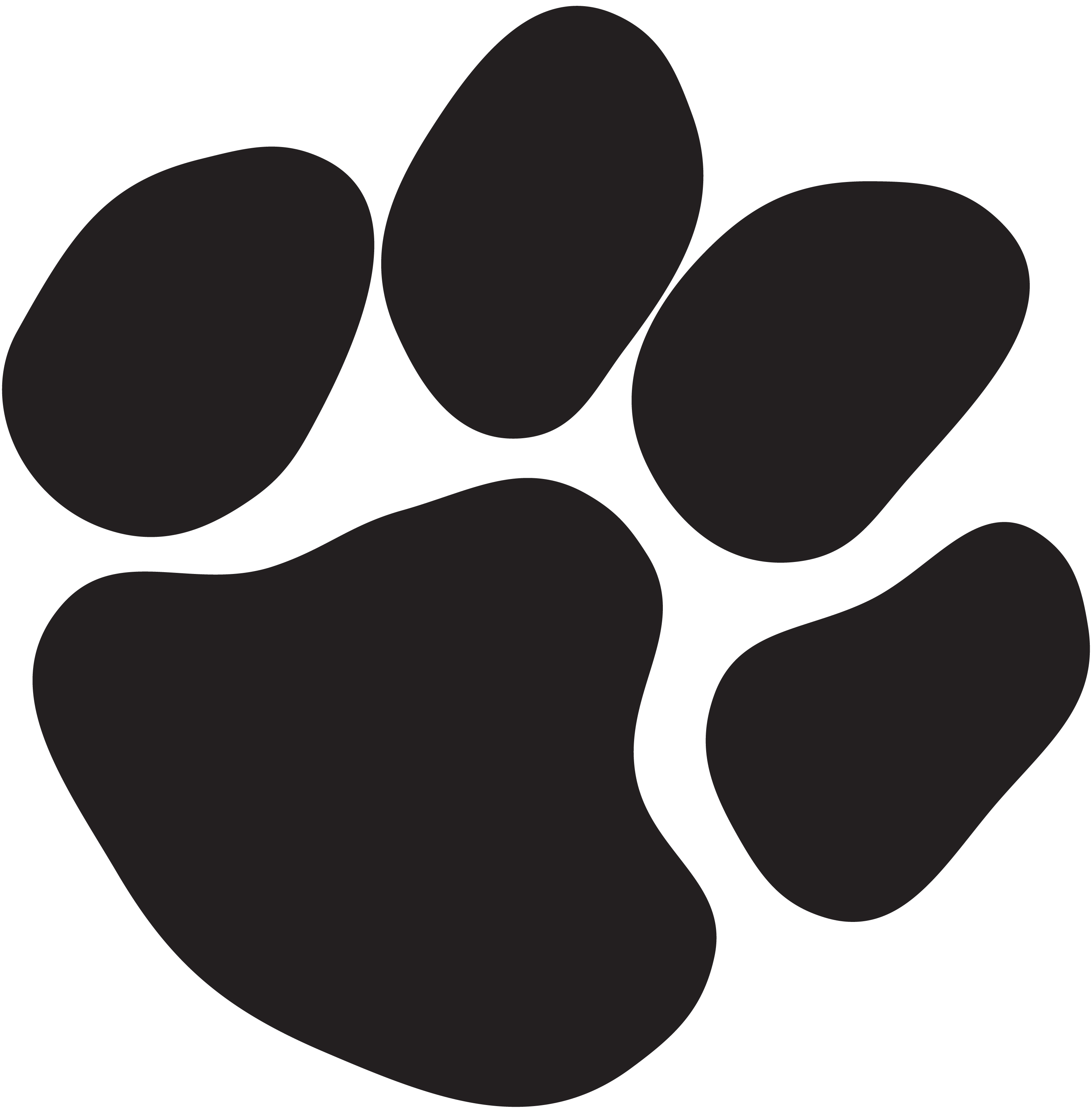 Paw print clipart jpeg transparent library Cat Paw Print Black And White Clipart - Clipart Kid transparent library