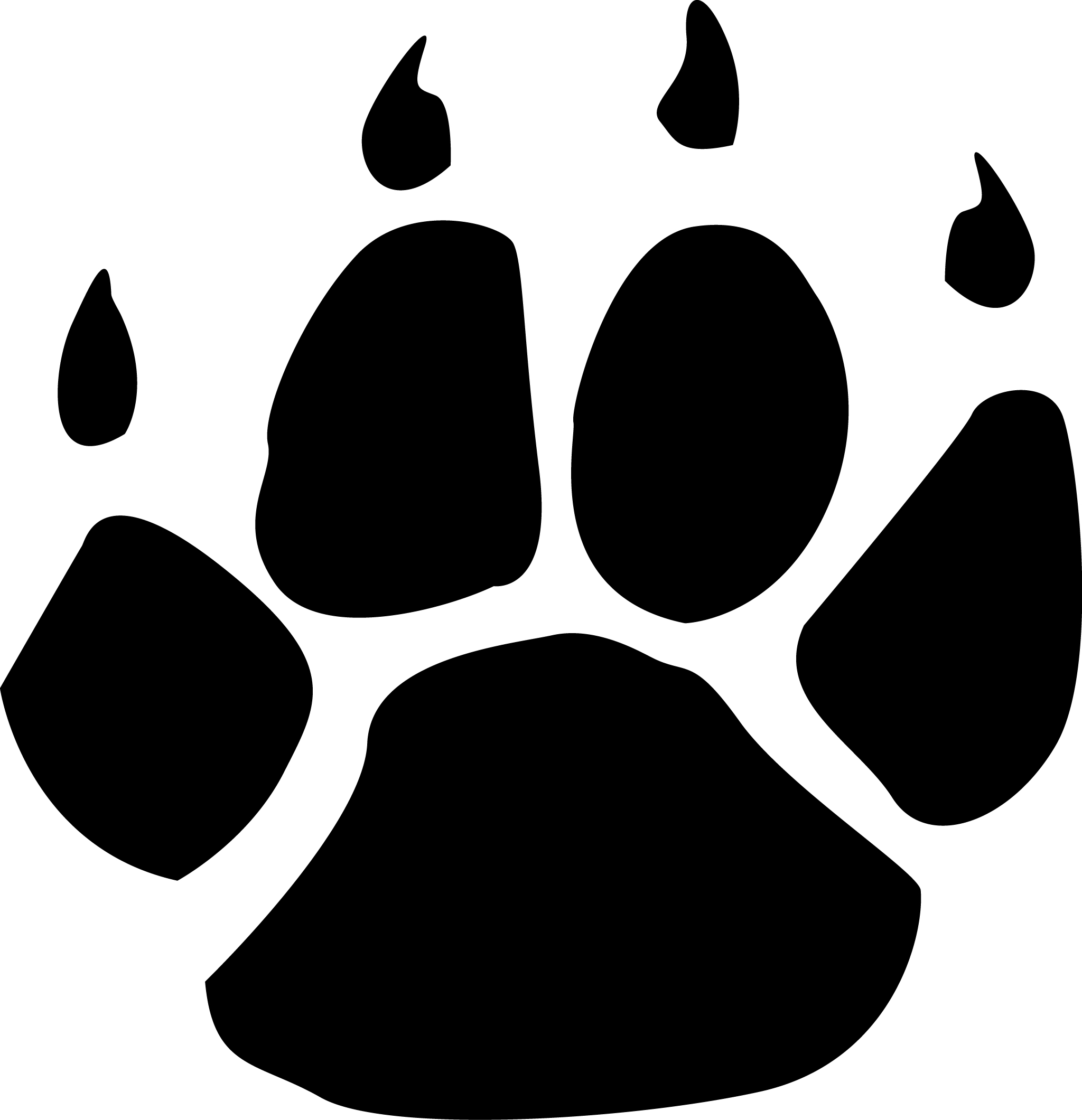 Paw print clipart jpeg banner Wildcats Paw Print Clipart - Clipart Kid banner