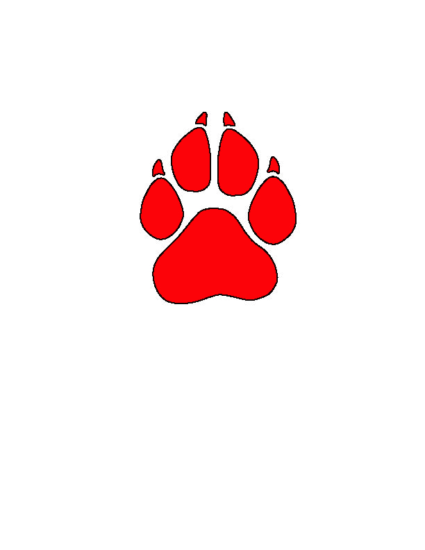 Paw print clipart jpeg graphic transparent stock Red Panther Paw Clipart - Clipart Kid graphic transparent stock