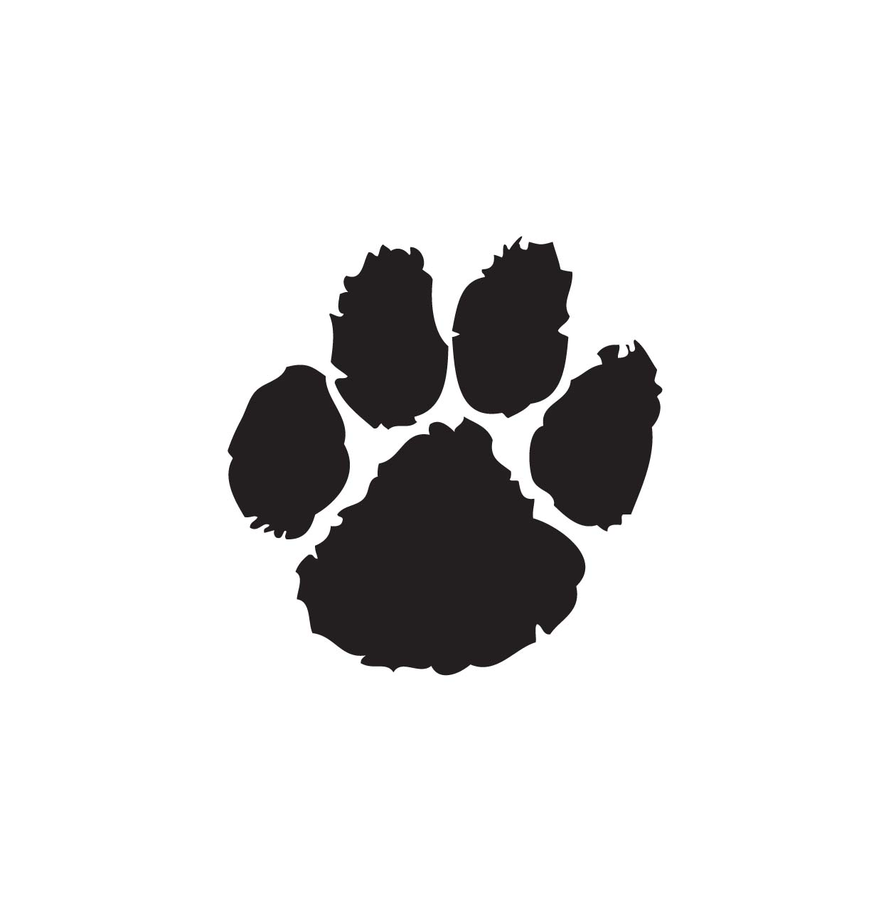 Paw print clipart jpeg svg black and white library Paw Print Clipart & Paw Print Clip Art Images - ClipartALL.com svg black and white library