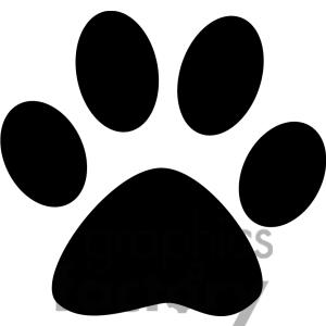 Paw print clipart jpeg banner free download Paw Print Black And White Clipart - Clipart Kid banner free download