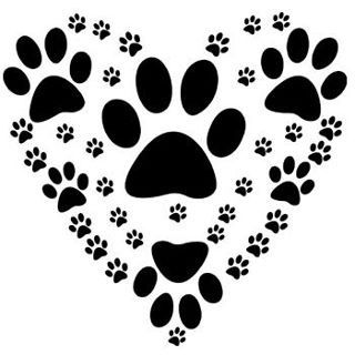 Paw print with hearts clipart clip art black and white library 17 Best images about ●Paw Prints On My Heart● on Pinterest ... clip art black and white library