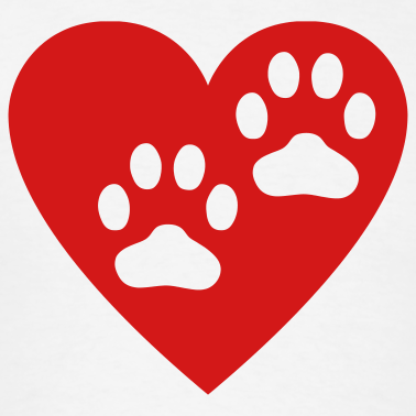 Paw print with hearts clipart clip art transparent Heart Paw Print Clipart - Clipart Kid clip art transparent