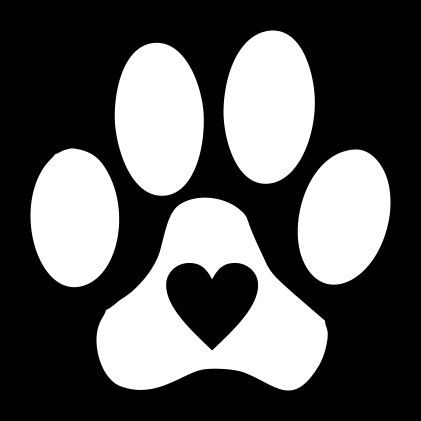 Paw print with hearts clipart svg royalty free Paw Print with Heart Vinyl Decal for Car Window, Locker, Laptop ... svg royalty free