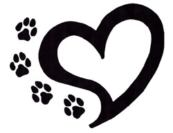 Paw print with hearts clipart clipart black and white download Paw print with hearts clipart - ClipartFest clipart black and white download