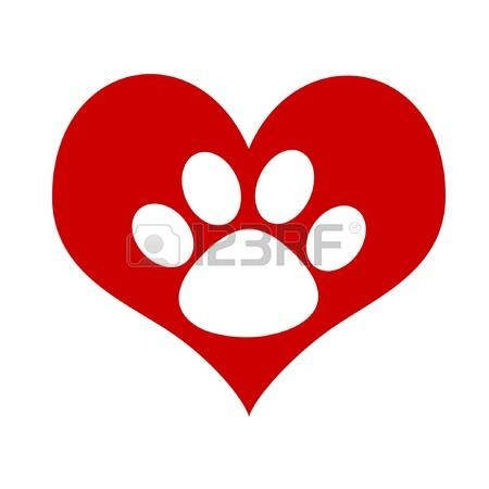 Paw print with hearts clipart transparent stock 1,730 Paw Print Heart Cliparts, Stock Vector And Royalty Free Paw ... transparent stock